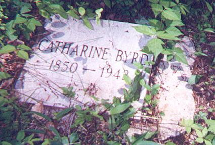Catharine Byrd's Tombstone Picture
