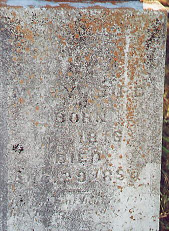 Mary Bird's Tombstone Picture